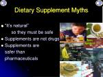 dietary supplement myths