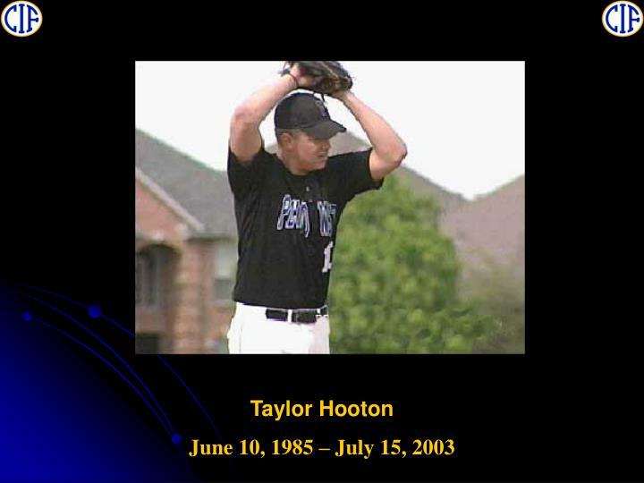 Taylor Hooton