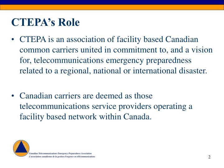 Ctepa s role