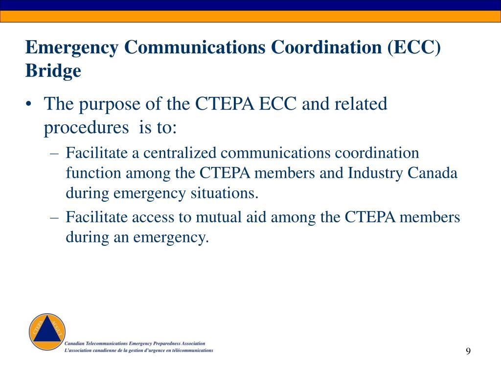 Emergency Communications Coordination (ECC) Bridge