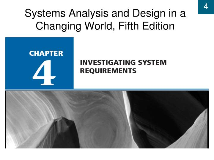 systems analysis and design in a changing world fifth edition n.