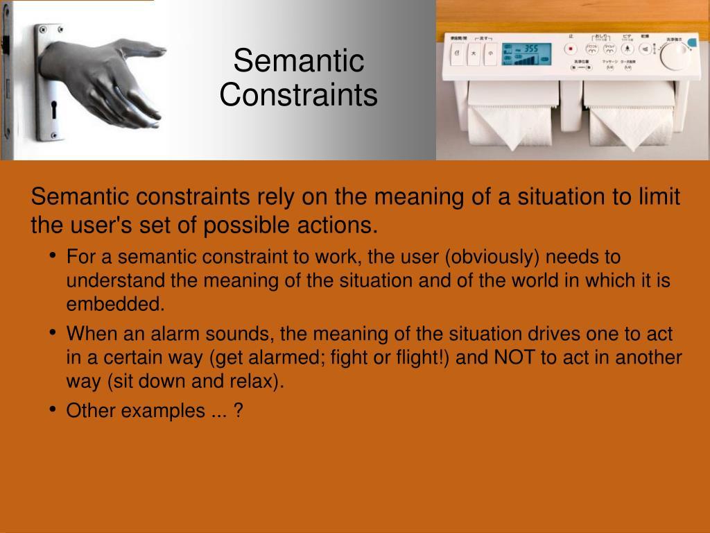 Semantic Constraints