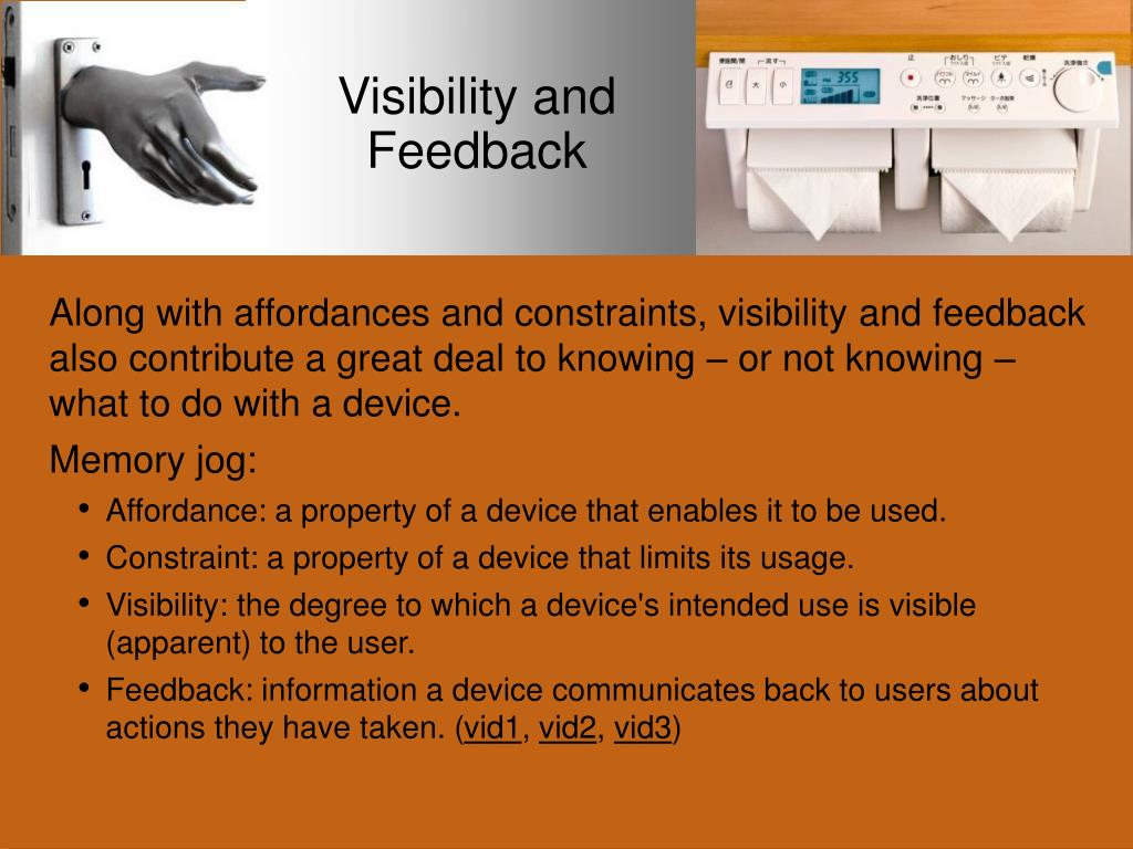 Visibility and Feedback