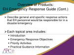 overview of products eh emergency response guide cont