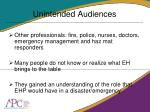 unintended audiences