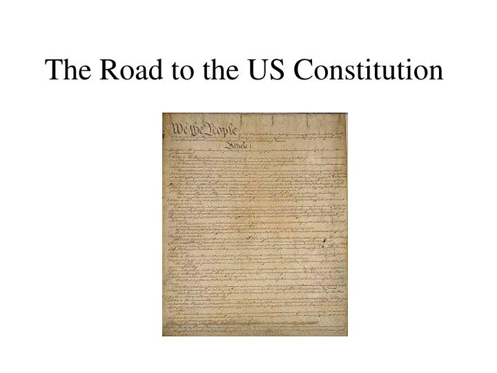 the road to the us constitution n.