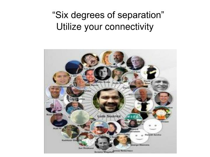 """""""Six degrees of separation"""""""