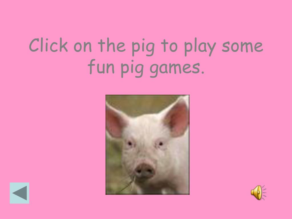 Click on the pig to play some fun pig games.