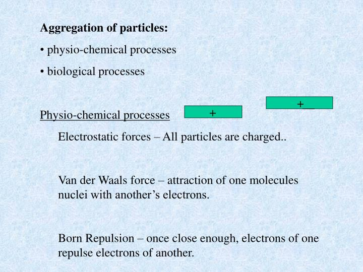 Aggregation of particles: