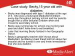 case study becky 15 year old with diabetes