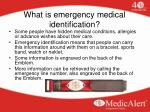 what is emergency medical identification