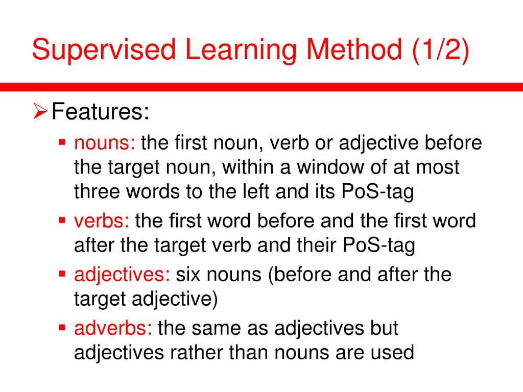 Supervised Learning Method (1/2)