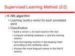 supervised learning method 2 2