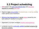 5 3 project scheduling