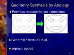 geometry synthesis by analogy20