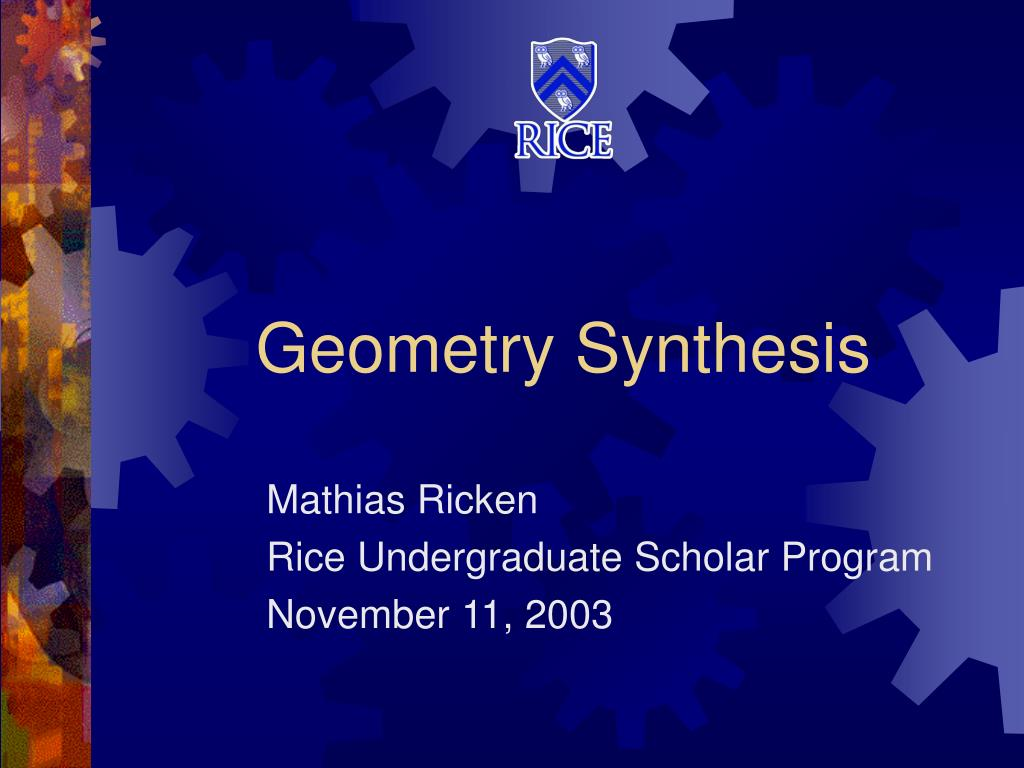 geometry synthesis l.