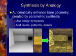 synthesis by analogy