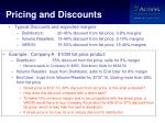 pricing and discounts1