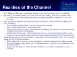 realities of the channel