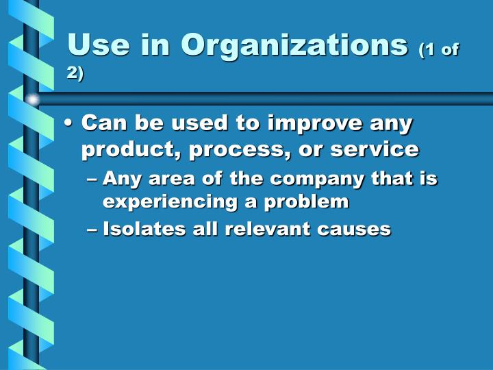 Use in Organizations