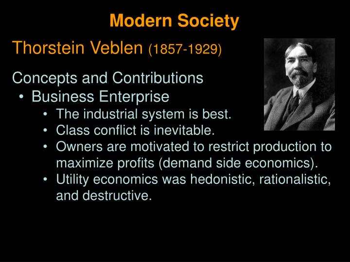 thorstein veblen short bio economic
