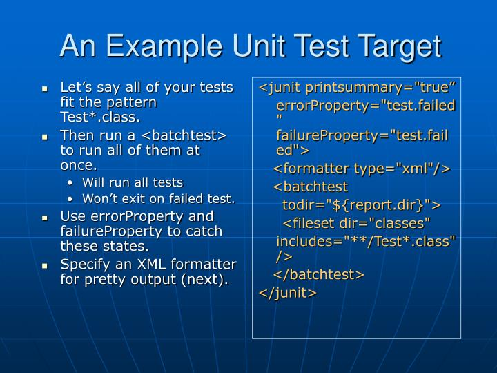 Let's say all of your tests fit the pattern Test*.class.