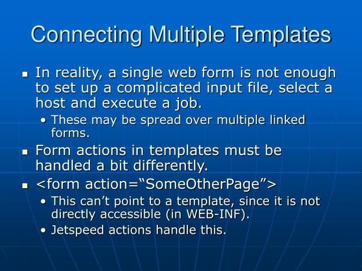 Connecting Multiple Templates