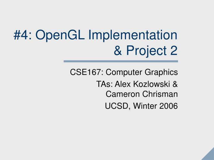 4 opengl implementation project 2 n.