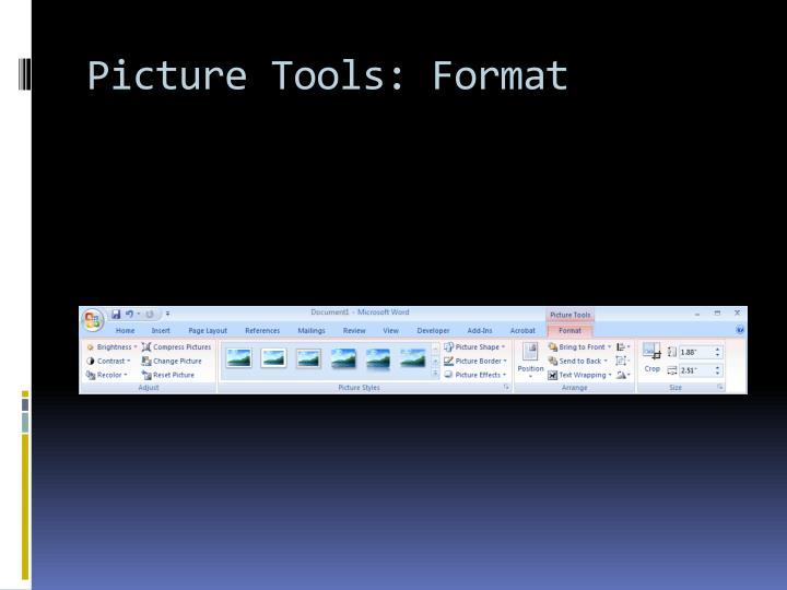 Picture Tools: