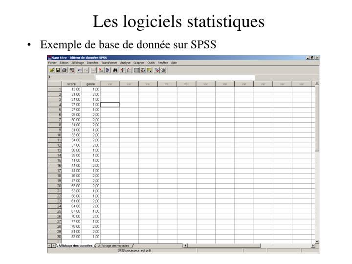 Les logiciels statistiques