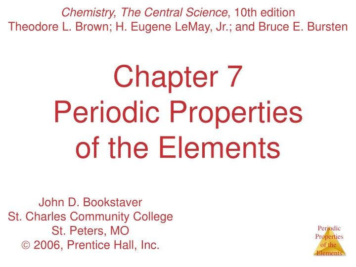 chapter 7 periodic properties of the elements n.
