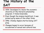 the history of the sat