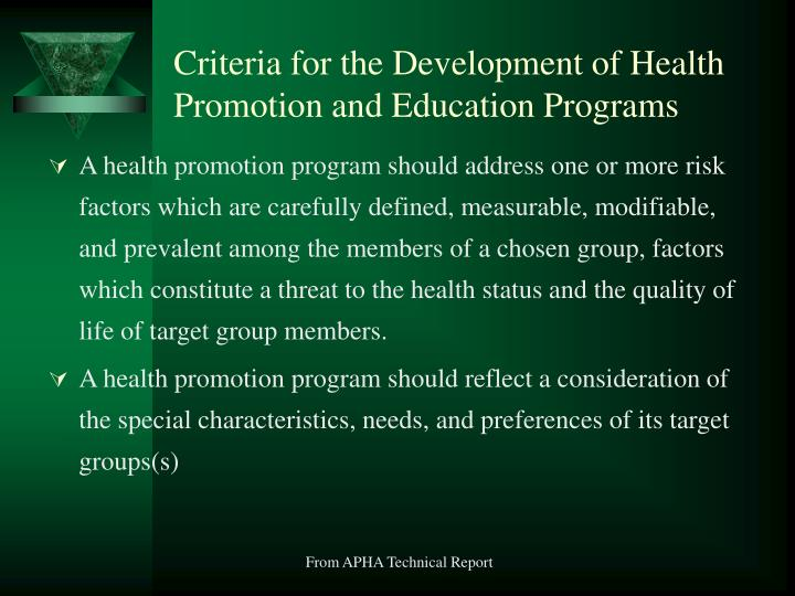education on health promotion 2 essay International journal of health promotion and education published on behalf of the institute of health promotion and education this journal call for papers.