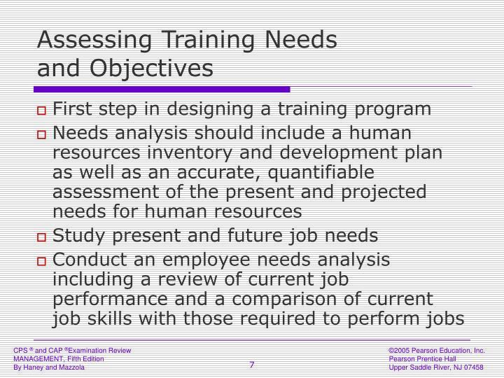 Assessing Training Needs