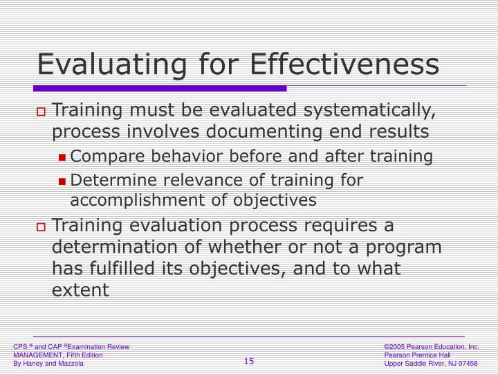 Evaluating for Effectiveness
