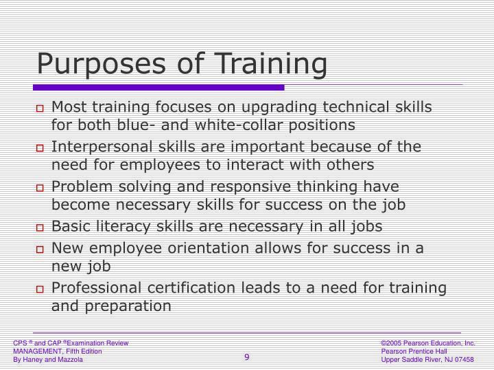 Purposes of Training