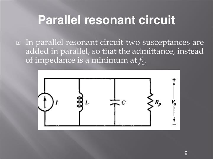 Parallel resonant circuit
