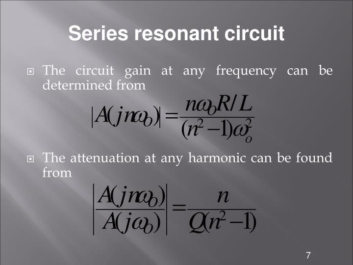 Series resonant circuit