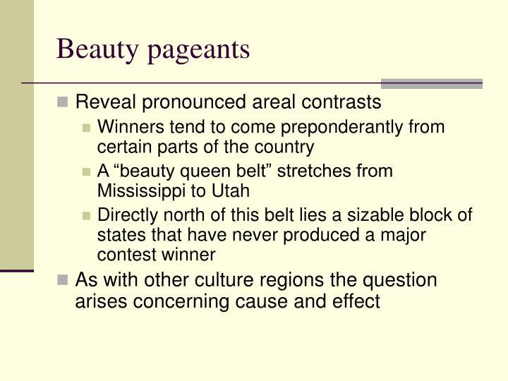 Beauty pageants