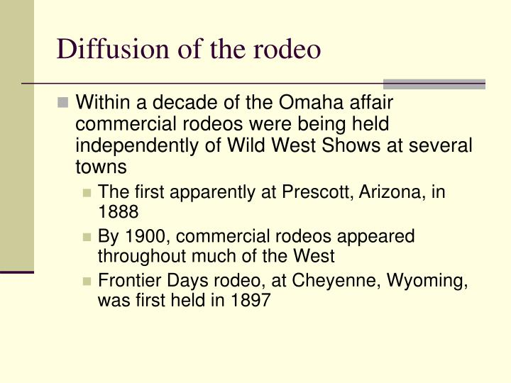 Diffusion of the rodeo