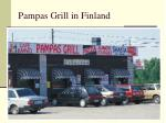 pampas grill in finland
