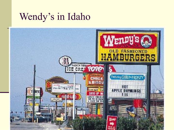 Wendy's in Idaho