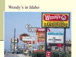 wendy s in idaho