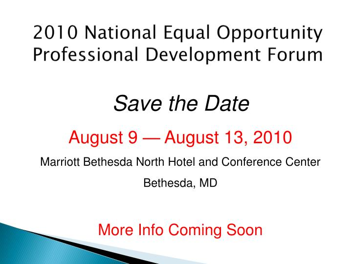 2010 National Equal Opportunity Professional Development Forum