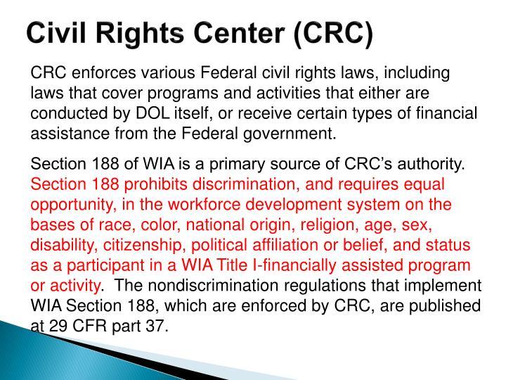 Civil rights center crc