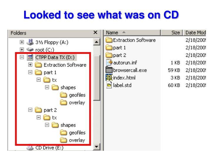 Looked to see what was on CD