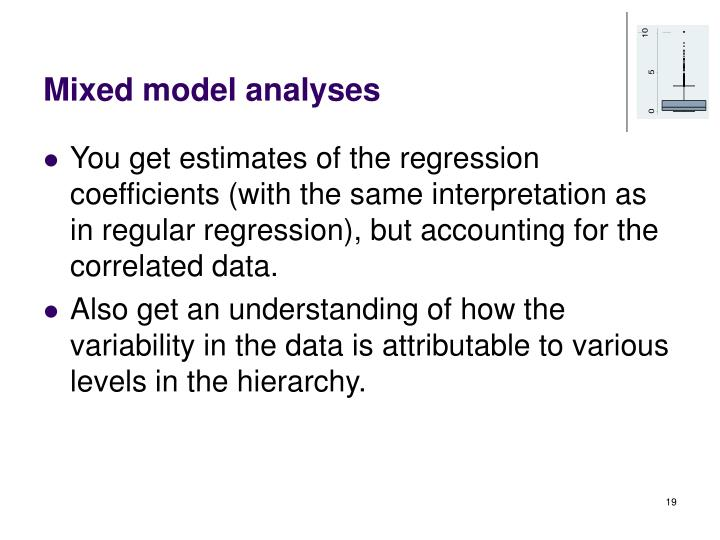 Mixed model analyses