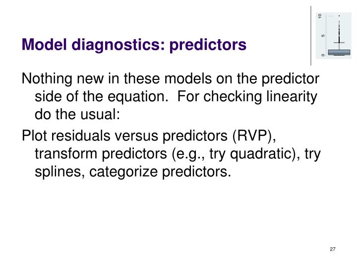 Model diagnostics: predictors