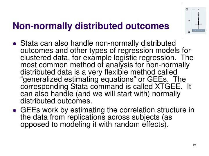 Non-normally distributed outcomes