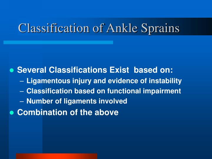 Several Classifications Exist  based on: